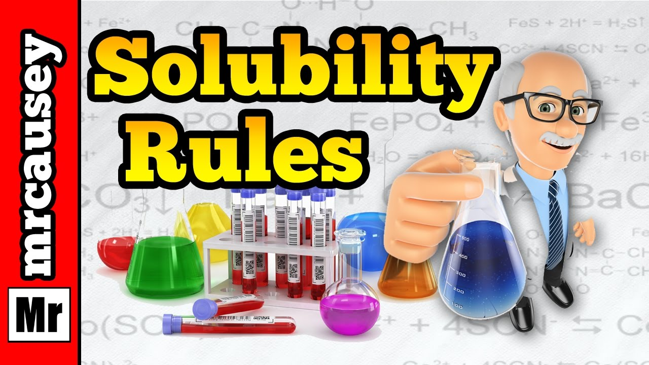 Chemistry clipart solubility. Rules and precipitation reactions