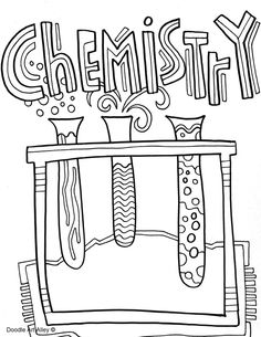Cover of the science. Chemistry clipart title page