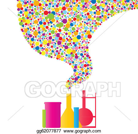 Chemistry clipart vintage. Vector art colorful drawing