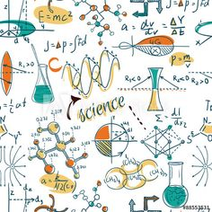 Set of hand drawn. Chemistry clipart vintage