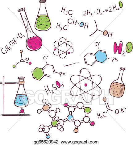 Chemical clipart biology. Clip art vector hand