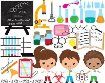 Chemistry clipart vintage. Art etsy digital clip
