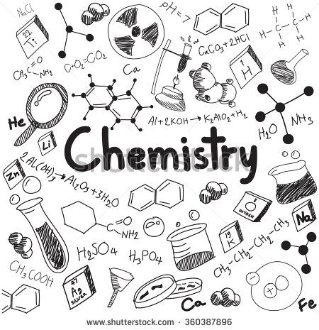 Science theory and bonding. Chemistry clipart word