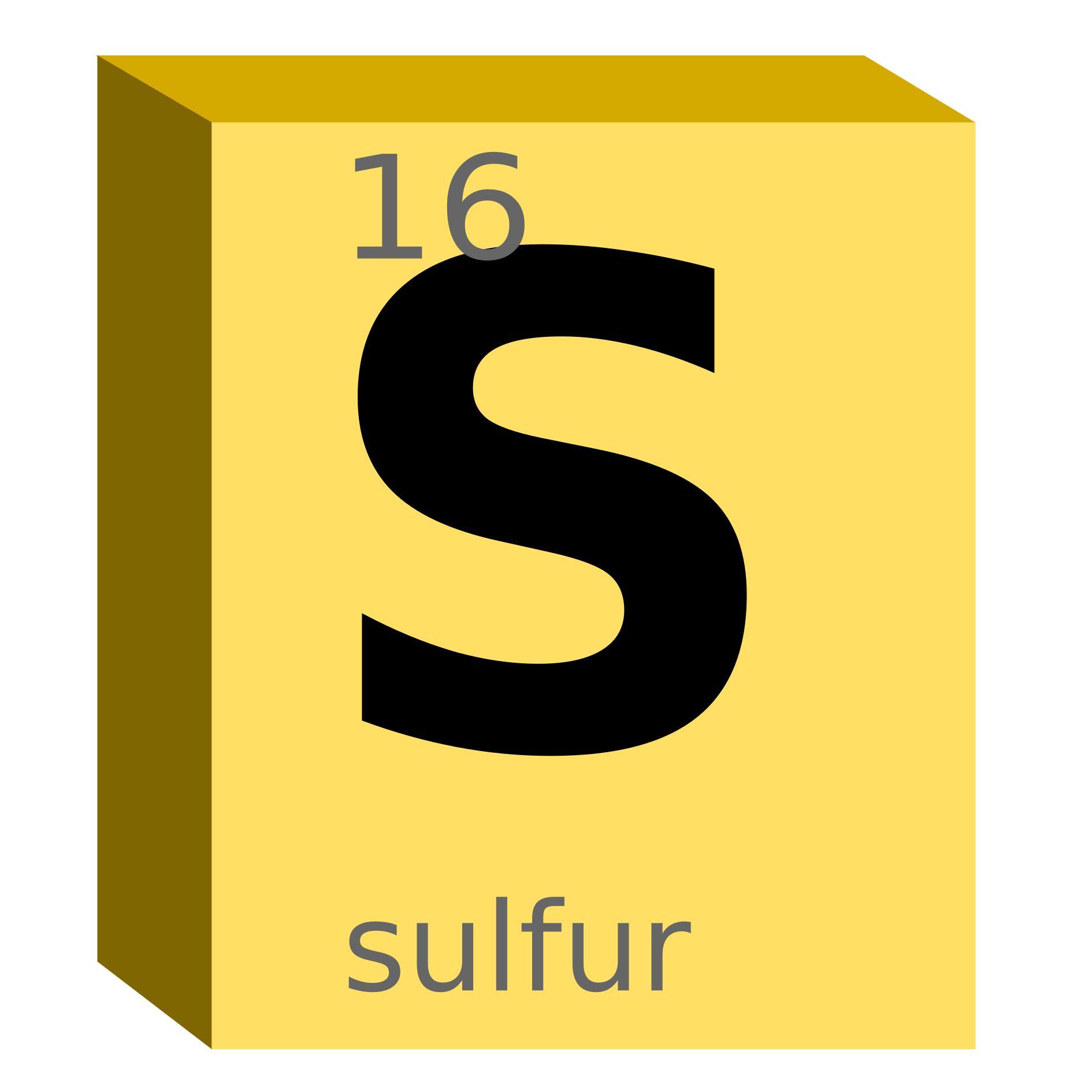Chemistry clipart word. Sulfur s block design