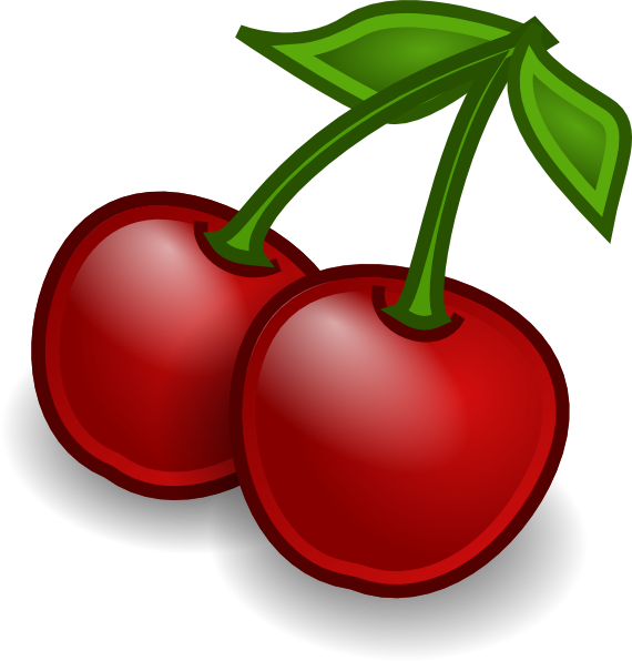Cherries clipart. Rocket fruit clip art