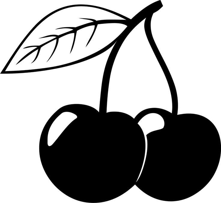 Cherry clipart clip art. Black and white station