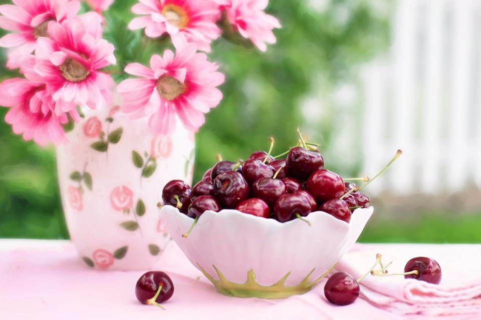 Free photo summer breakfast. Cherries clipart bowl