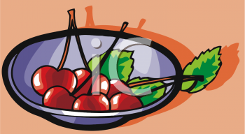 A of fresh image. Cherries clipart bowl