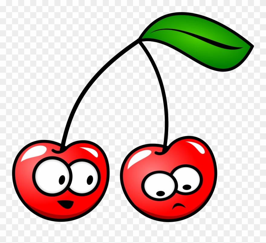 Clip art cherries with. Cherry clipart cartoon