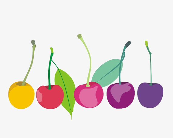Car hand painted png. Cherries clipart color
