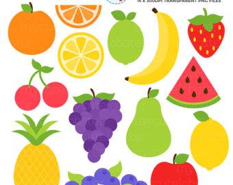 Fruit etsy set clip. Cherries clipart cute
