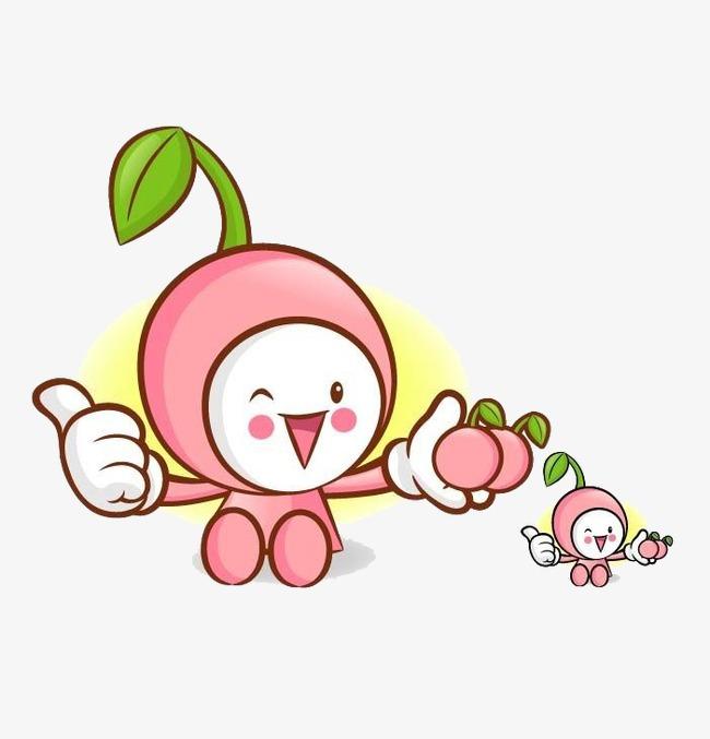Cherries clipart cute. Cartoon lovely cherry png