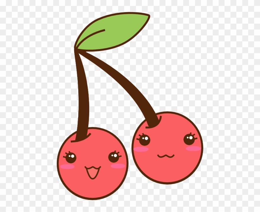 Cherry kawaii png download. Cherries clipart cute