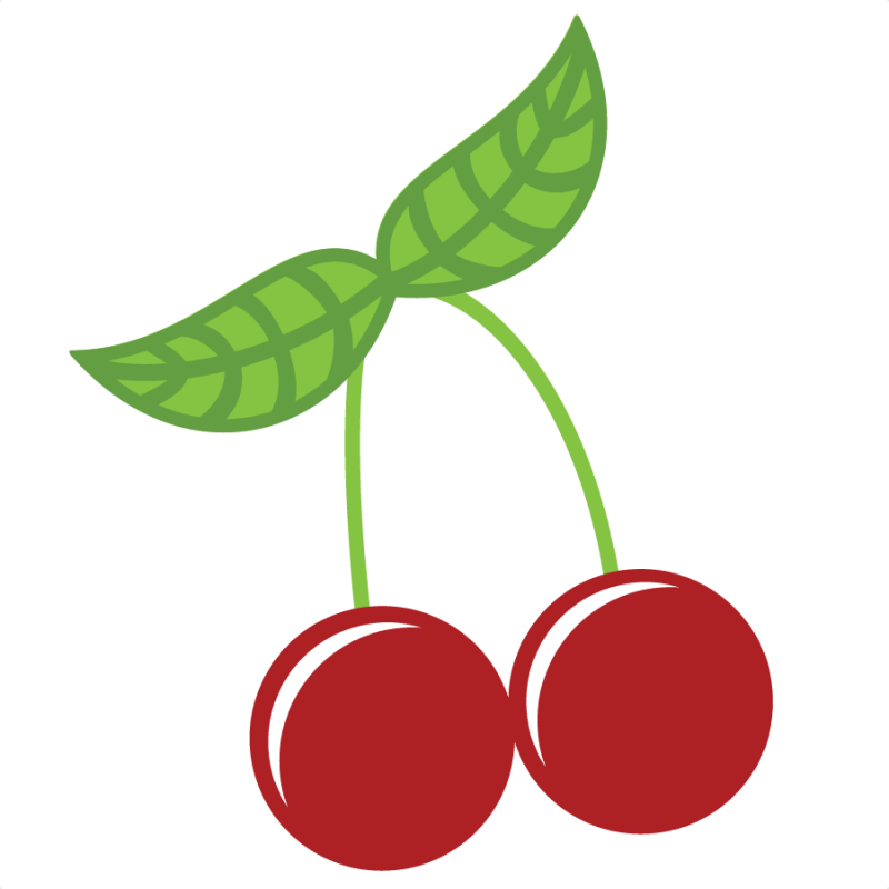 Cherries svg file for. Pineapple clipart adorable