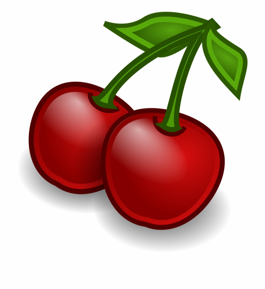 Cherries clipart food. File fruit svg clip