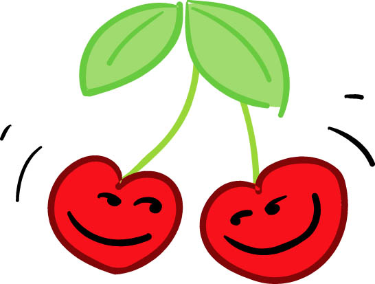 Cherry clipart color. Happy pencil and in