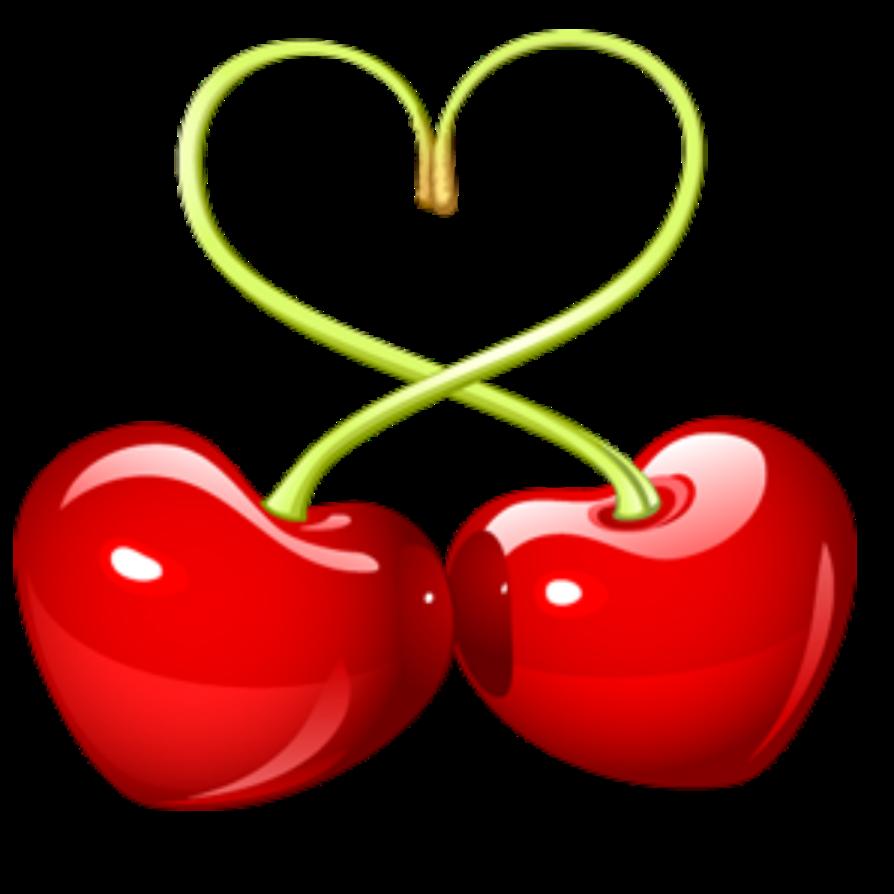 Cherries by rosemoji on. Heart clipart cherry