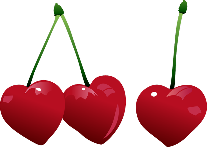 Hearts cherries gallery yopriceville. Heart clipart cherry
