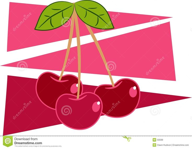 Cherry clipart bunch cherry.  best pink cherries
