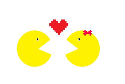 Ms pac man . Pacman clipart vector