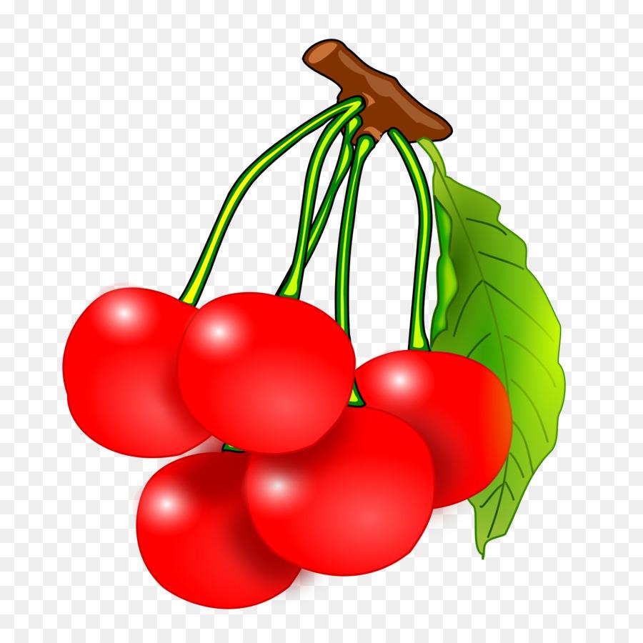 Potato cartoon fruit food. Cherries clipart red cherry