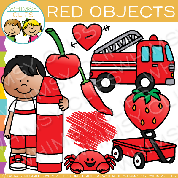 Cherries clipart red object. Color objects clip art
