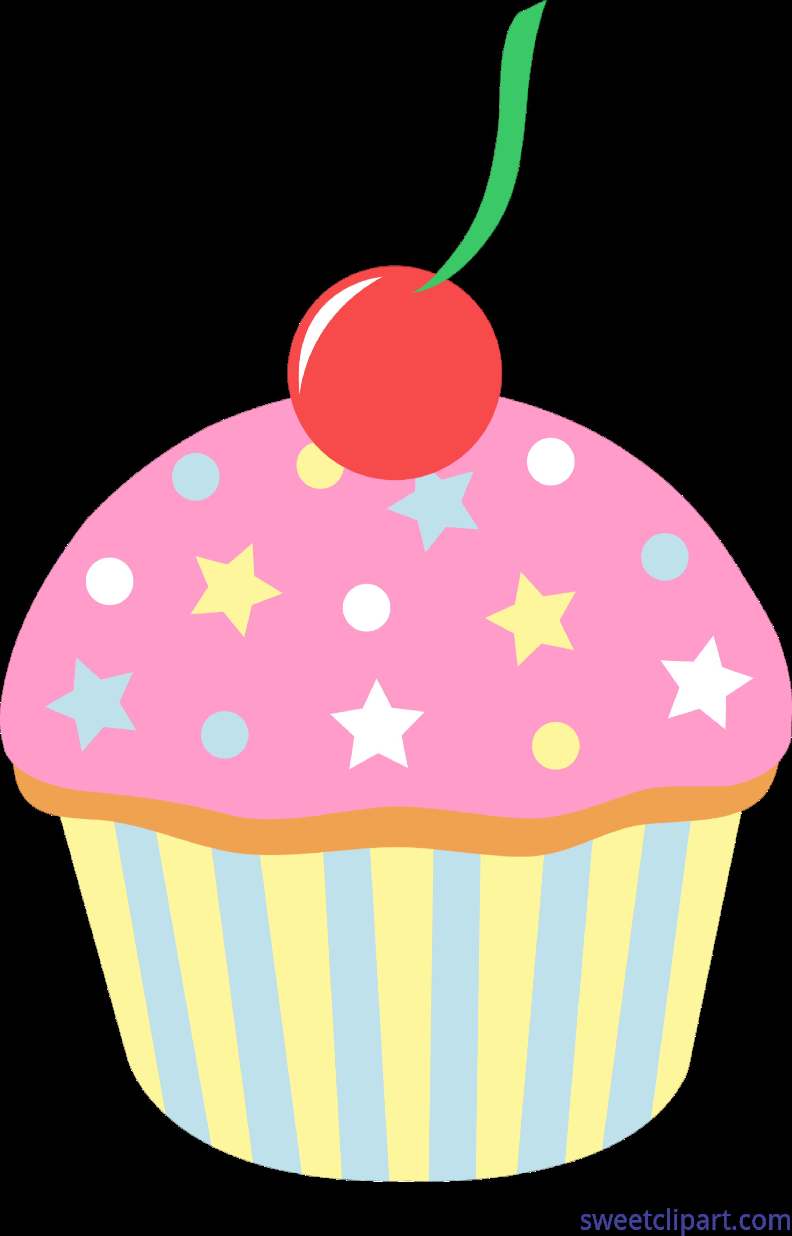 Cupcake strawberry sprinkles clip. Strawberries clipart cherry