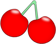 cherry clipart two cherry