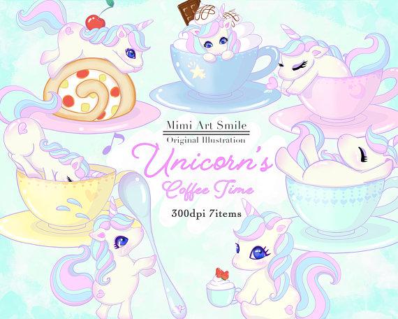 S coffee time clipartunicorn. Cherries clipart unicorn