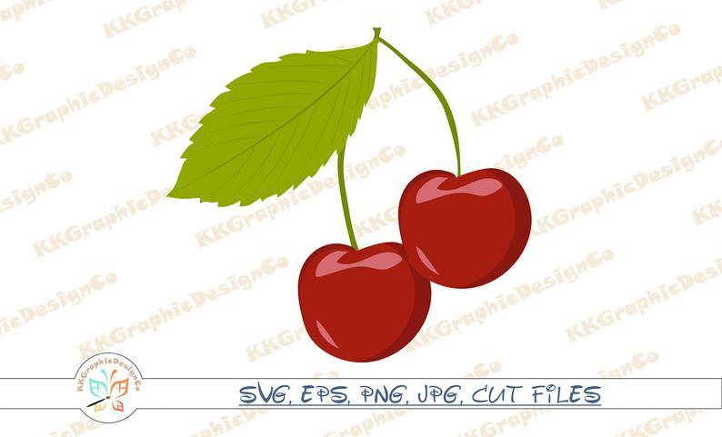Cherries clipart vector. Svg cherry dessert png