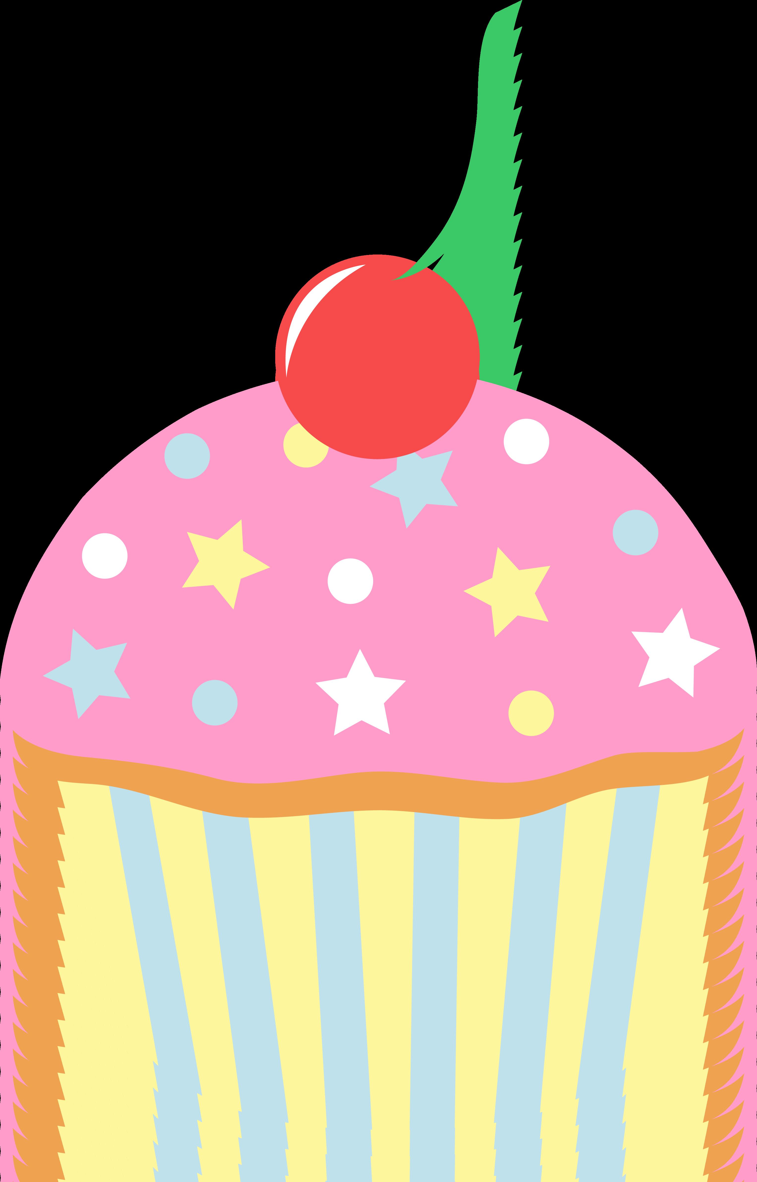 Cupcake clipart modern. Pink strawberry panda free