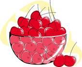 Cherries stock illustrations royalty. Cherry clipart bowl