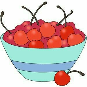 Cherry clipart bowl. Kitchen utensils silhouette at