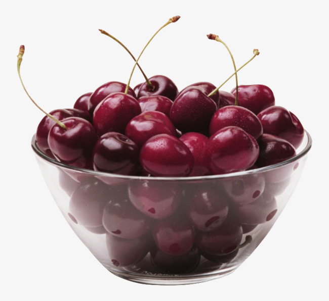 Of cherries red green. Cherry clipart bowl