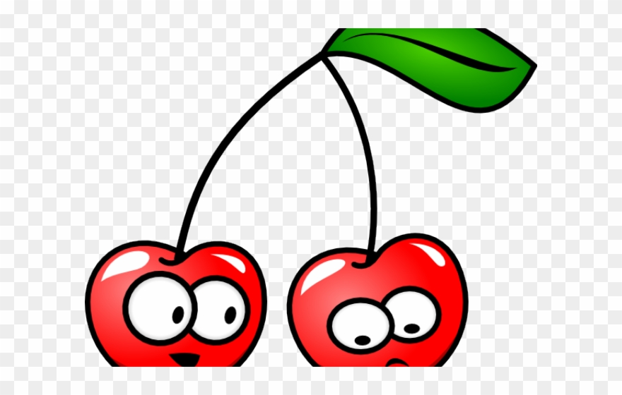 Cartoon cherries with faces. Cherry clipart cherrie