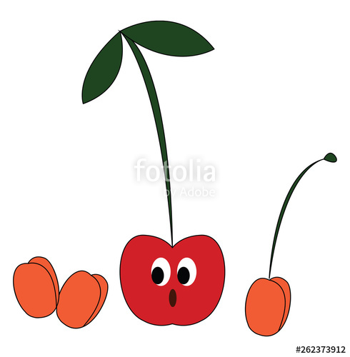 Of a small red. Cherry clipart color