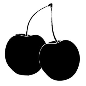 Cherries clipart black and white. Clip art image two