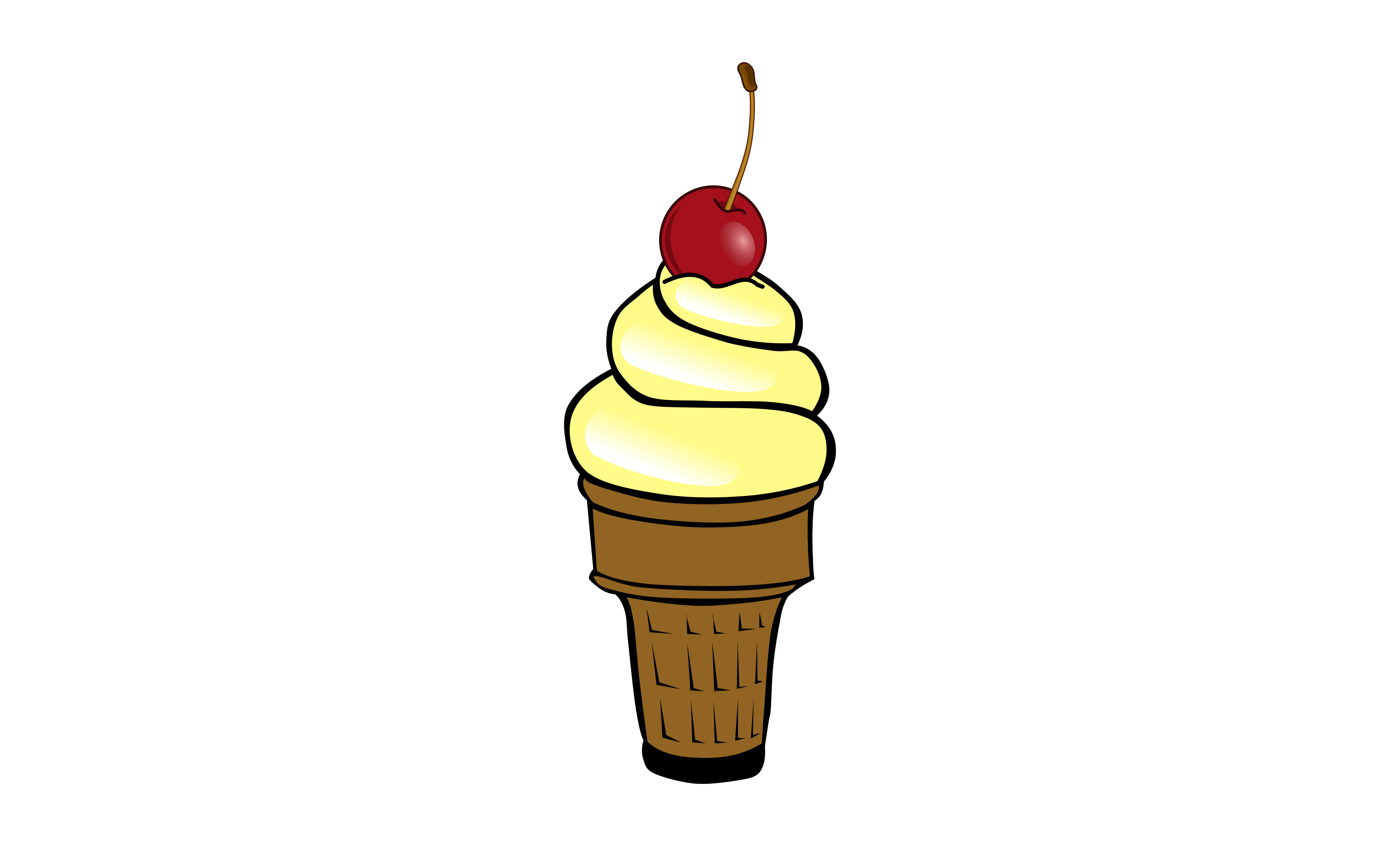 Words clipart ice cream. Soft with cherry icons
