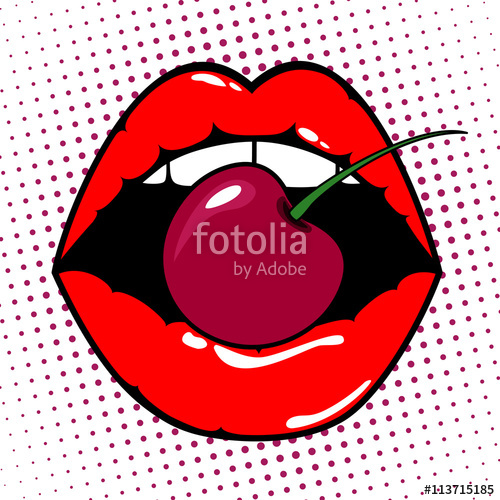Cherries clipart pop art, Cherries pop art Transparent