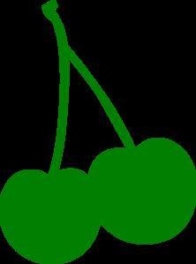Green clip art at. Cherry clipart stem
