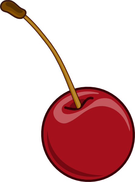 Cherry clipart stem. With clip art at