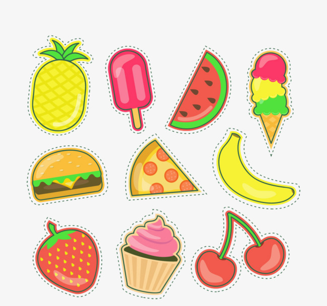 Cute cartoon picture material. Cherry clipart strawberry