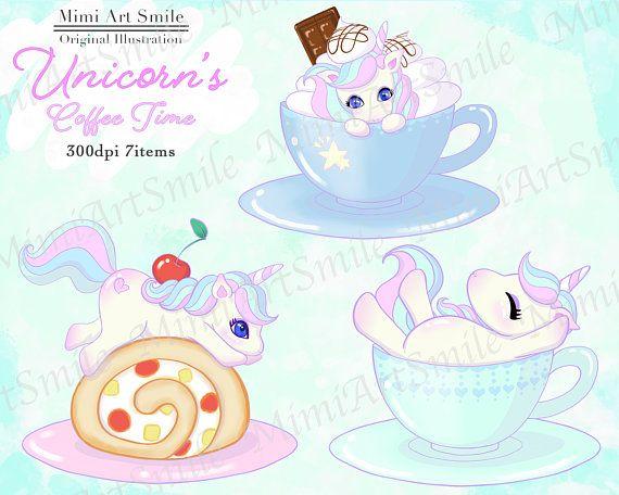 Coffee cup tea clip. Cherry clipart unicorn