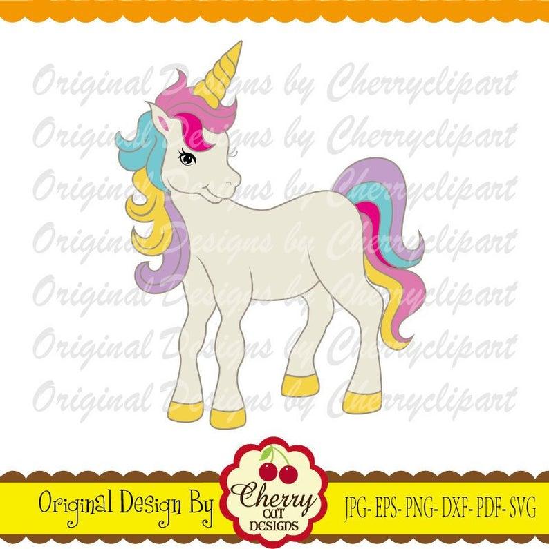 Cherry clipart unicorn. Svg dxf rainbow silhouette