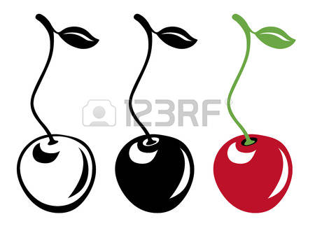Cherry clipart vector. Sweet cherries clipground stock