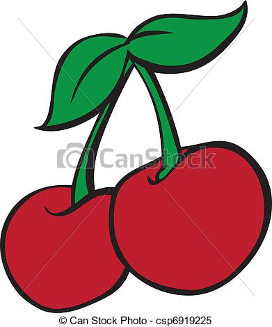 Cherry clipart vector. Slot machine pencil and