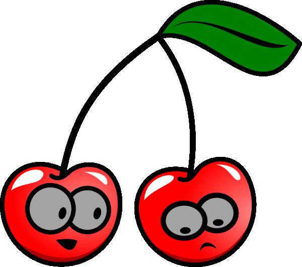Cherry clipart vector. Free cherries cartoon download