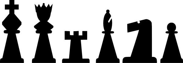 Black white line clip. Chess clipart border