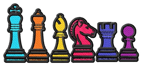 Chess clipart border. Pieces embroidery design annthegran