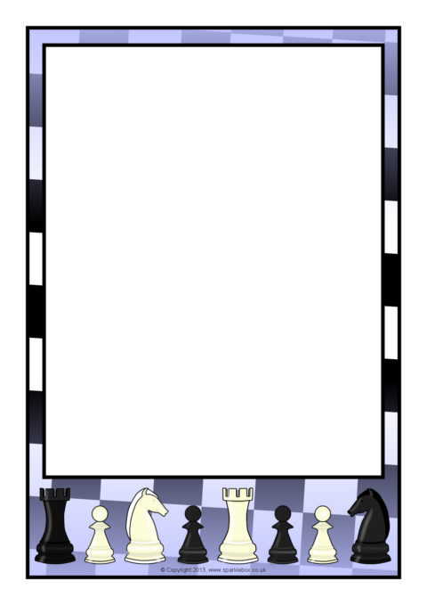 A page borders sb. Chess clipart border